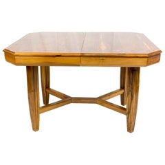 20th Century, Art Deco Walnut Table Extendable