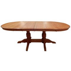 Americana Solid White Oak Dining Room Table
