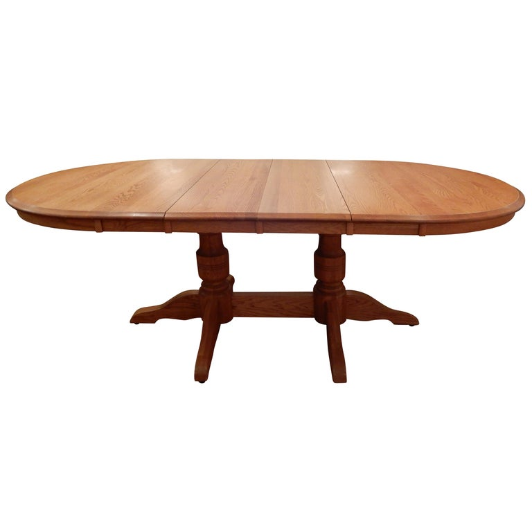 Americana Solid White Oak Dining Room Table For Sale