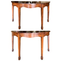 Pair of 18th-19th Century English Mahogany Consoles
