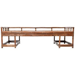 19th Century Chinese Bent Bamboo Daybed