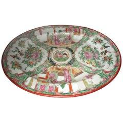 19th Century Qing Rose Medallion Porcelain Platter