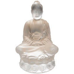 Lalique France, Sculpture Buddha Small Model, 2019