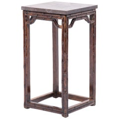 Early 20th Century Chinese Faux Bamboo Display Table