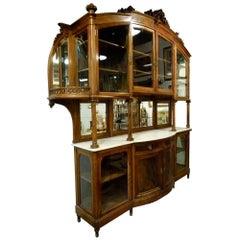 Art Nouveau Oak Wood Spanish Cabinet
