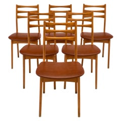 French Cherrywood Midcentury Chairs