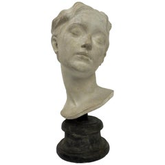 Italy circa 1890, Academic Cast Depicting a Young Girl Head