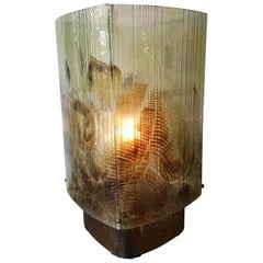 Fused Glass Fauna Themed Table Lamp