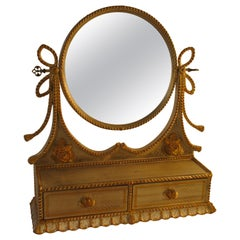 1960s Italian Silver and Gold-Painted Vanity Mirror