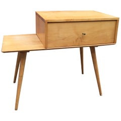 Paul McCobb 1 Drawer Cabinet on Bench