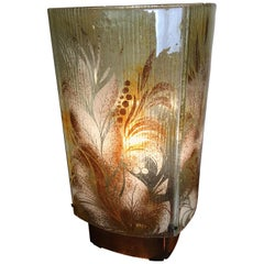Fused Glass Fauna Inspired Table Lamp