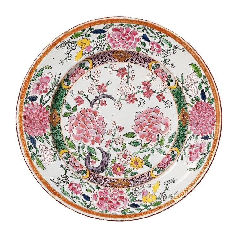 18th Century Italian Maiolica Dish Milano, circa 1770 For Sale