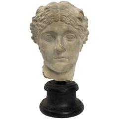 Academic Cast Depicting a Roman Women's Head, Italy, circa 1890