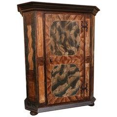 Antique Single Door Painted Pine Austrian Wedding Cabinet