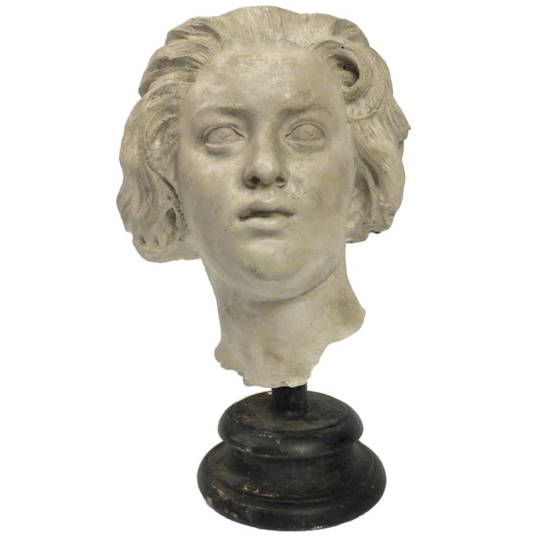 Academic Cast Depicting Costanza Bonarelli's Head, Italy, circa 1890 For Sale