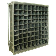 Vintage Folding Canvas Army Mail Sorter Wine Rack