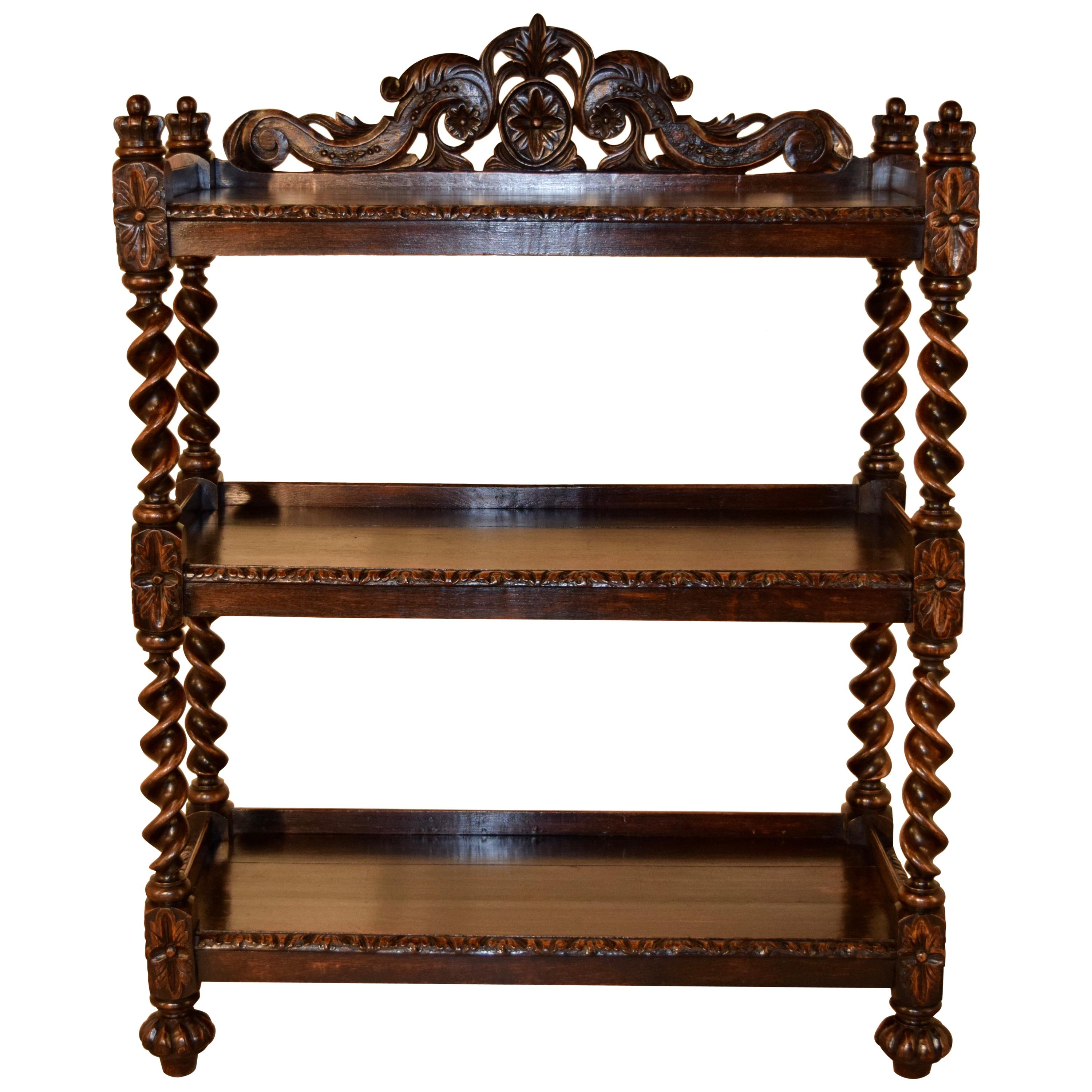 19th Century Carved French Dessert Buffet