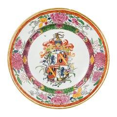 18th Century Italian Maiolica Armorial Dish Milano, circa 1770