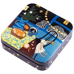 Contemporary Palekh Lacquered Jewelry Box