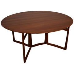 Peter Hvidt and Orla Mølgaard-Nielsen Drop-Leaf Teak Dining Table by John Stuart