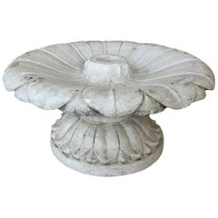 19th Century Carved Carrara Marble Garden Fountain