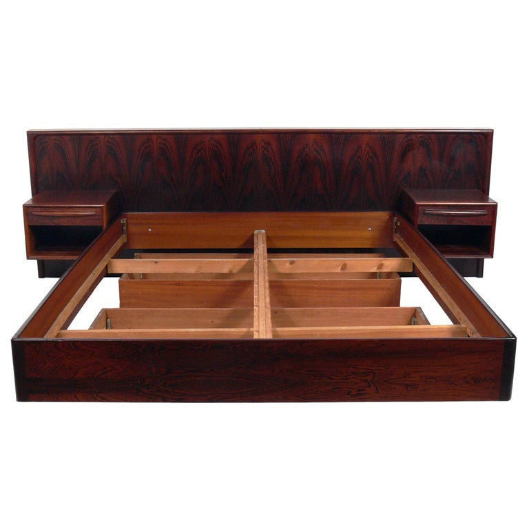 Danish Modern Quot Floating Quot Rosewood Bed With Integrated