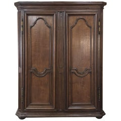 19th Century Louis XIV Style Oak Armoire