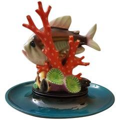 Lenci Mario Sturani Art Deco Fish Ceramic, 1936