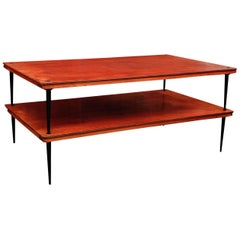 French Mid-Century Modern Two-Tier Coffee Table