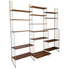 String Wall Unit Ladder Shelf by Nils Nisse Strinning, 1960s, Sweden