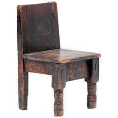 Early 20th Century Guatemalan Child's Chair