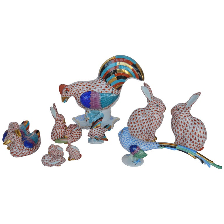 Collection of Herend Animals For Sale