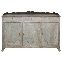 Painted Swedish Sideboard