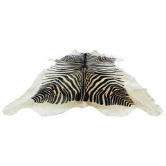 Printed Zebra Cow Hide Rug