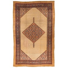 Antique Persian Serab Camel Hair Gallery Rug