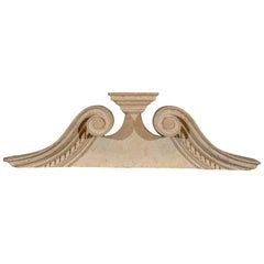 Late Georgian Swan's Neck Architectural Pediment