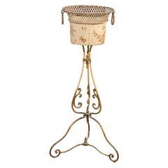 19th Century French Tole and Iron Jardiniere