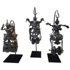 Hindu Deity Miniature Sculptures, 19th Century