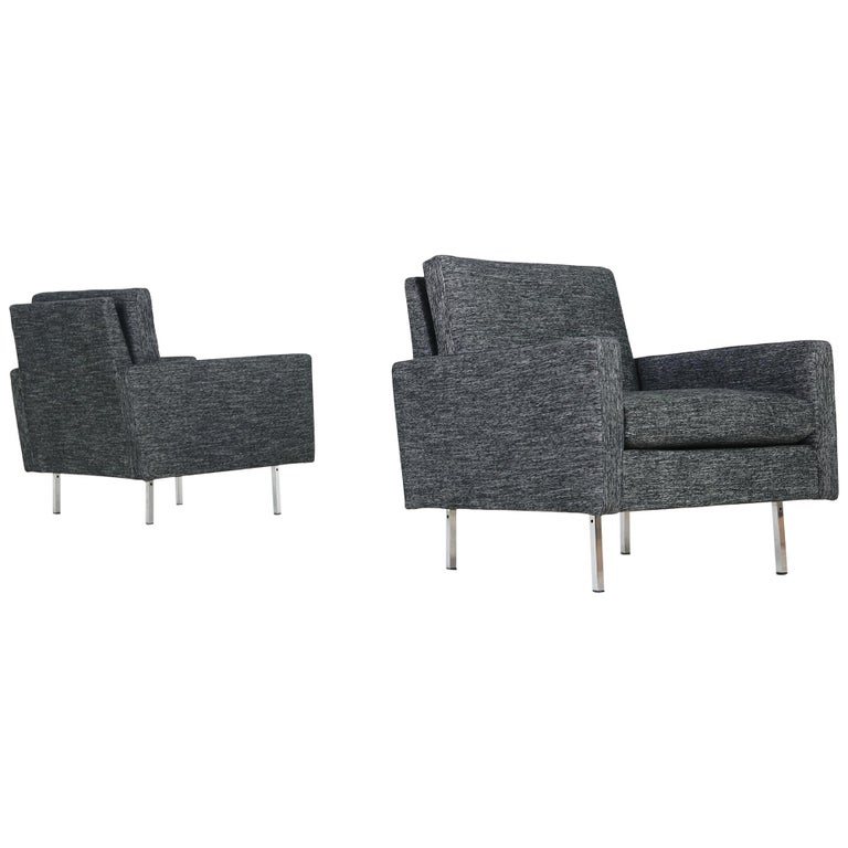 Pair of 1960s Florence Knoll Lounge Chairs Model 25 BC Knoll International '2' For Sale