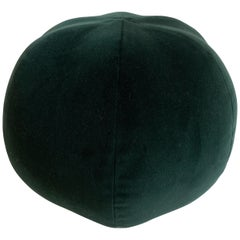 Modern Green Velvet Ball Pillow