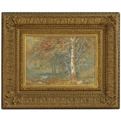Landscape Watercolor Painting Signed L Douglas, American, Early 20th Century