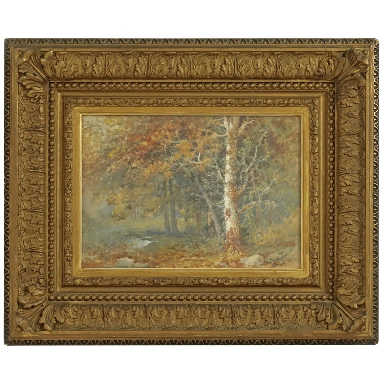 Landscape Watercolor Painting Signed L Douglas, American, Early 20th Century For Sale