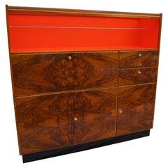 Art Deco Walnut Dresser J.Halabala Nut from 1940 .