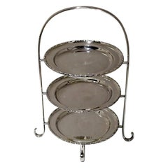 Early 20th Century Edwardian Silver plated Three Tier Cake Stand A Beardshaw