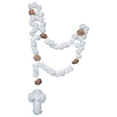 Rosary Made of Hand Wood Carving Querubins and Crepom Paper by Brazilian Yankatu