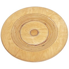 Midcentury Finnish Modern Wooden Plate by Saarinen for Keuruu