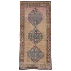 Antique Caucasian Karabagh Rug, Pink, Blue and Neutral Tones