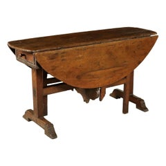 Italian 17th Century Winetable Folding Table Console