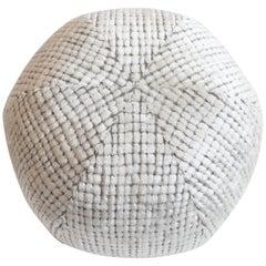 Modern Round Ball Pillow in Cut Velvet