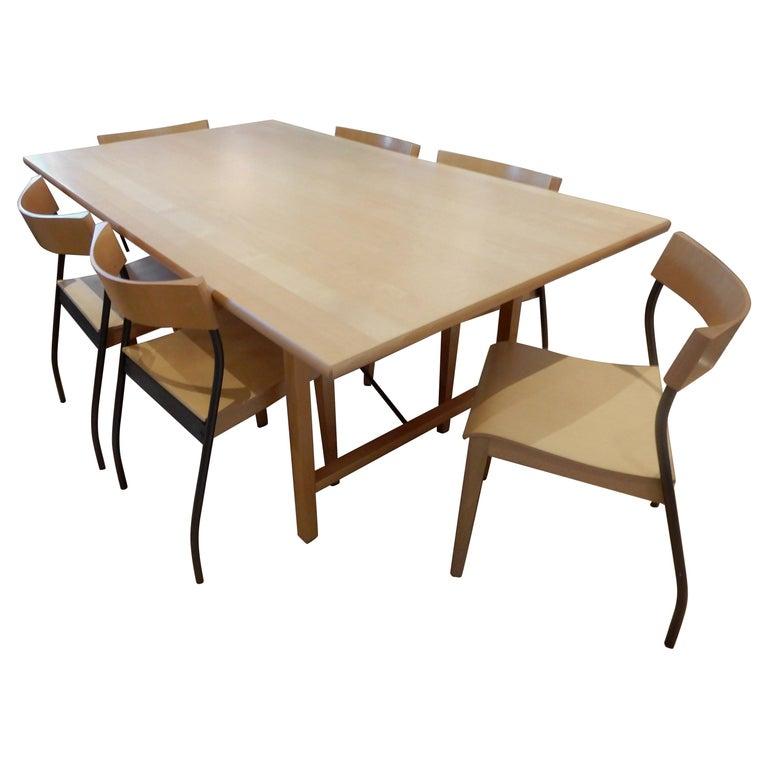 Danish Dining Room Set: Danish Modern 1990s Handcrafted Dining Room Set For Sale